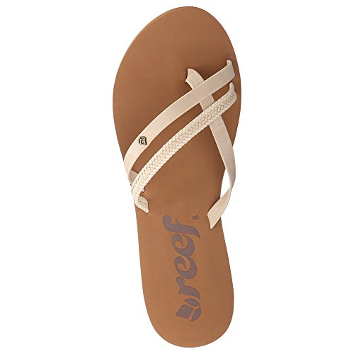 Reef Women's O'Contrare LX Flip Flop, Cream, 7 M US