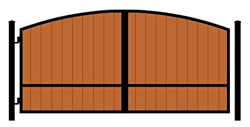 StandardGates Metal Black Arch Redwood Security Gates And...