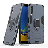 Cocomii Black Panther Armor Galaxy A7 2018 Case New [Heavy Duty] Tactical Metal Ring Grip Kickstand Shockproof Bumper [Works with Magnetic Car Mount] Cover for Samsung Galaxy A7 2018 (B.Black)