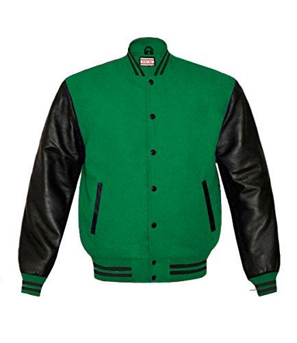 Green Wool Varsity Jacket - 6