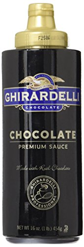 Ghirardelli Chocolate Sauce, Black Label 16oz Squeeze Bottle (Pack of 2) ()