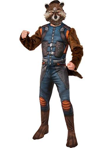 (Rubie's Men's Guardians of The Galaxy Rocket Raccoon Costume, Multi Color,)