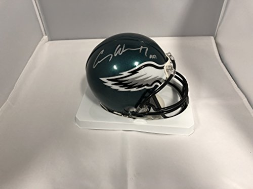 Carson Wentz Signed Autographed Philadelphia Eagles Mini Helmet COA & Hologram (Helmets Philadelphia Eagles Autographed)