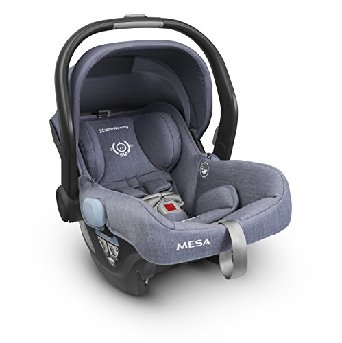 2018 UPPAbaby MESA Infant Car Seat – Henry (Blue Marl) Merino Wool Version/Naturally Fire Retardant