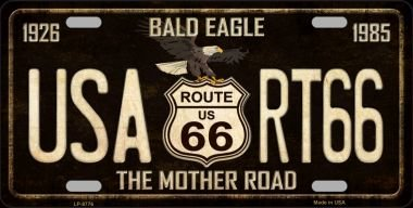 Eagle 66 Route - Smart Blonde USA Route 66 With Eagle Metal License Plate