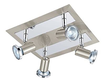 Eglo 200093A Rottelo Track Light, Matte Nickel/Chrome