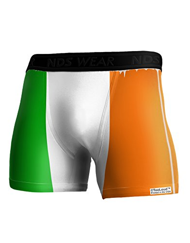 TooLoud Irish Flag - Flag of Ireland Boxer Brief Dual Sided Large All Over Print