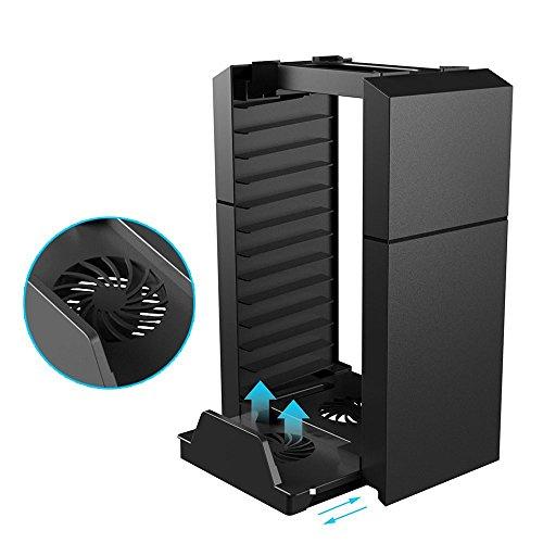 PS4 Base Enfriadora Con Organizador De Discos Disponible Con PlayStation 4 / PlayStation 4 Slim / PlayStation 4 Pro