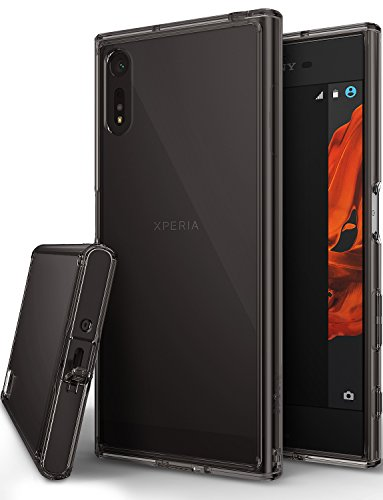 Xperia XZ / XZs Case, Ringke [FUSION] Streamlined Fit [Smoke Black][Attached Dust Cap] Ultimate Durable PC Back Flexible TPU Bumper Cover [Impact Resistant/Drop Protection] For Sony Xperia XZs / - Fit Streamlined