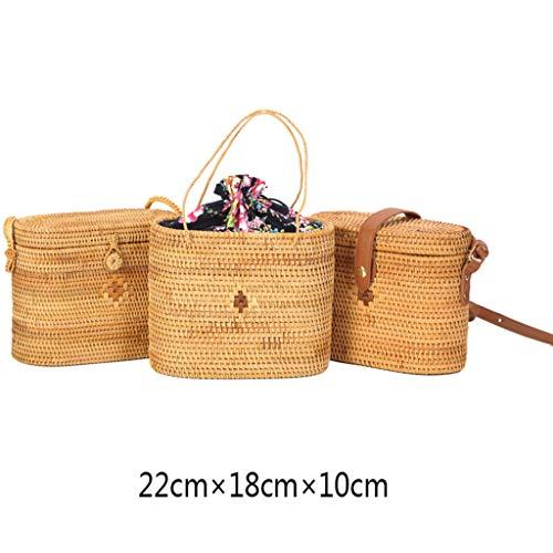 Women's Bag, Rattan Bag - Medicine Box Style - Cosmetic Crossbody Bag - Travel Beach Bag - Hand-Woven Bag by BHM (Image #1)