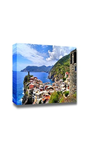 Beautiful Scenery Landscape View Over the Cinque Terre Village of Vernazza Italy from the Ancient Watchtower Wall Decor