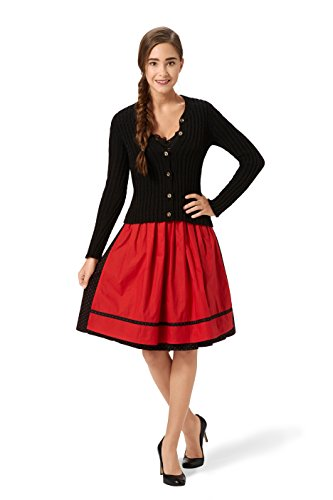 Himmelreich-made in Germany Dirndl Strickjacke mit Zopfmuster Damen schwarz-34