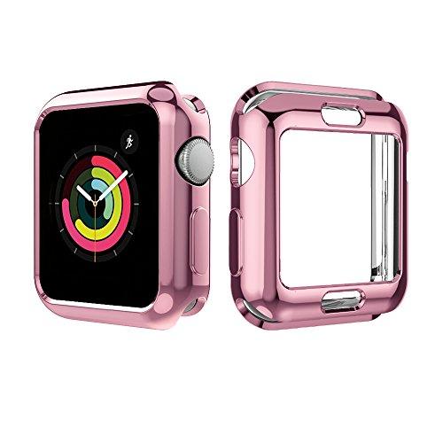 UBOLE Case for Apple Watch 38mm, UBOLE Scratch-resistant Flexible Lightweight Plated TPU Full Body Protective Case for iWatch Series3, Series 2, series 1 (5PACK, 38mm) by UBOLE (Image #4)