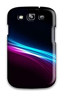 Snap-on Vector Swirls Rainbows Case Cover Skin Compatible With Galaxy S3