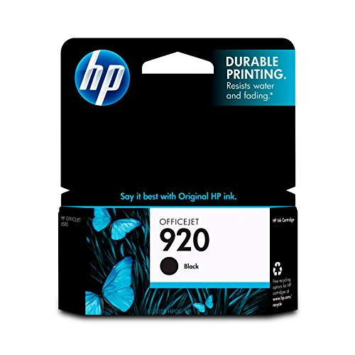 920 Black Officejet Ink - HP 920 Black Ink Cartridge (CD971AN) for HP Officejet 6000 6500 7000 7500