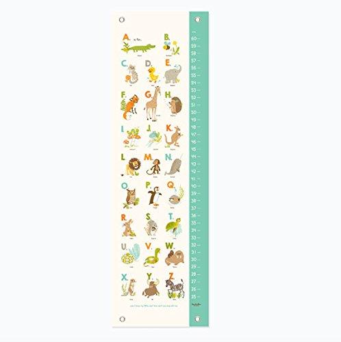 Sea Urchin Studio Animals Growth Chart, Alphabet ABC Nursery Wall Decor, Kids Growth Chart, Wall Growth Chart, Wall Height Chart, Kids Height -