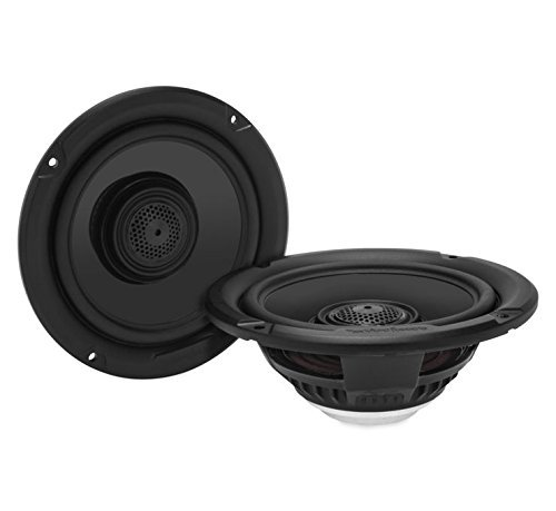 Rockford Fosgate TMS65 150W Peak (75W RMS) 6.5'' 2-Way Coaxial Speakers for 2014-Up Harley Davidson Motorcycles