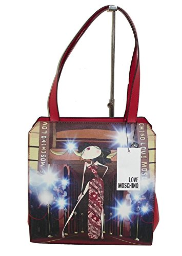 FORMA woman Bamboline bag ROSSO JC4106 Moschino Love Borsa SHOPPING DOPPIA Yx8Zwqx6U