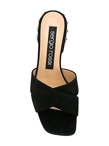 Sergio Rossi Femme A80080MFN2801498 Noir Suède Sandales