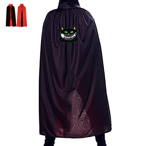 Funny Black Cat Halloween Party Cosplay Vampire Cloak for Adult Kids (Fish Halloween Costumes Homemade)