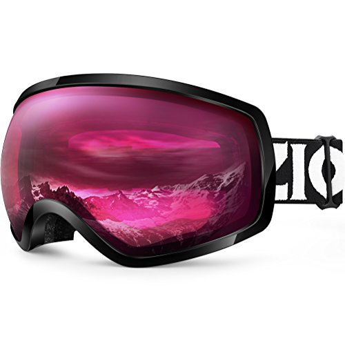 Zionor Lagopus OTG Ski Snowboard Goggles Updated Version UV Protection Anti-Fog Helmet Compatible for Men Women