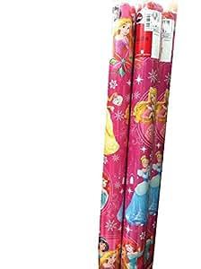 PINK Disney PRINCESS Christmas Wrapping Paper 40 Sq. Ft.