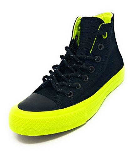 r II All Star Hi High Top Sneaker Black Neon Volt (11.5 M US) ()