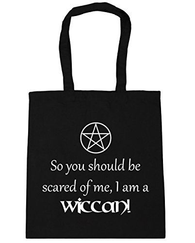 litres You So Beach Shopping Gym Me Black HippoWarehouse Tote 42cm Am Should A Wiccan x38cm I Scared 10 Be Bag Of Hxg5dFwq5
