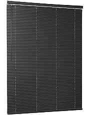 "Achim Home Furnishings Cordless GII Morningstar 1"" Light Filtering Mini Blind, 48"" x 64"", Black, Width: 48inch, Length 64inch Drop"