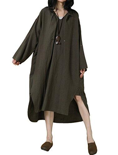 Donna Forti Camicia Taglie Di Vogstyle Verde UxIdq8qTw