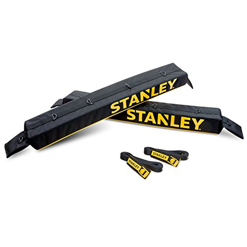 Stanley Universal Car Roof Rack Pad & Luggage Carrier System – Includes 2 Heavy Duty Tie Down Straps – Anti Vibration Great for Transporting Kayak SUP Surfboard Lumber & Other Long Items by Stanley