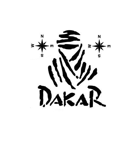 Calcomaní a Dakar Negro Mate Moto Discovery