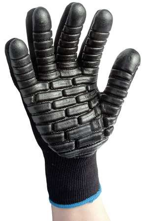 Anti-Vibration Gloves, L, Black, PR by IMPACTO (Image #1)