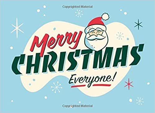 Merry Christmas Everyone.Amazon Com Merry Christmas Everyone Gift Journal Lined