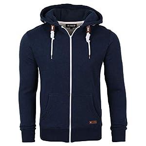 riverso RIVThilo Sweat-Shirt à Capuche pour Homme Sweat à Capuche zippé Basic Uniforme Coton Gris Marron Vert Rouge Bleu…