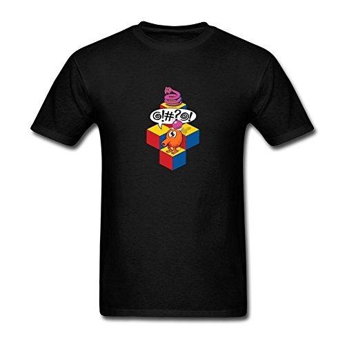 TIANRUNYG Men's Qbert Arcade Video Game Logo Short Sleeves T-Shirt Size XL ()