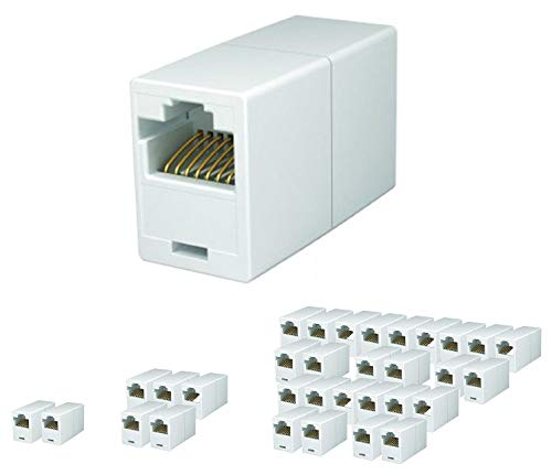 iMBAPrice RJ45 Coupler - (Pack of 25) Cat5e Ethernet Cable Extender Female to Female Straight Modular Inline Coupler (Cat5e Modular Coupler)