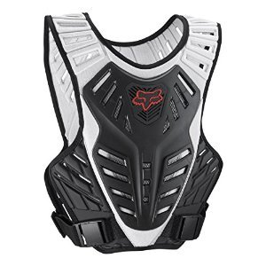 Titan Fox Racing Race (Fox Racing Titan Race Subframe Men's Roost Deflector Motocross Motorcycle Body Armor - Black/Silver/Small/Medium)