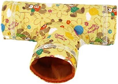 ハムスタートンネル小さいペット巣3チャンネル動物チューブ おもちゃ隠れ家ベッド