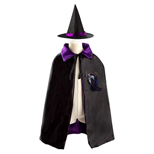 Costumes Witch Homemade For Kids (Terrible Warlock Reversible Halloween Costume Witch Cape Cloak Kid's)
