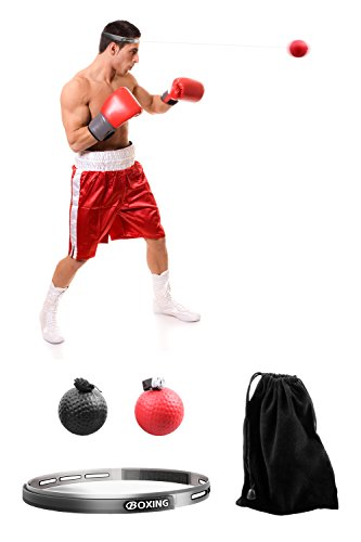 ACVCY Boxing Reflex Ball, 2 Difficulty Level Boxing Ball with Headband, Softer than Tennis Ball, Perfect for Boxing Punching Accuracy Improvement and Hand Eye Coordination Training