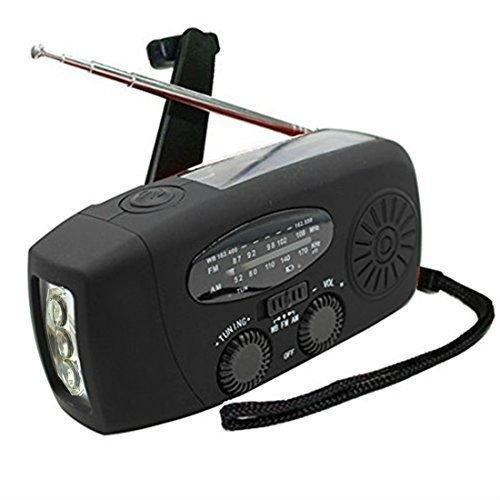 Digital Solar Radio, 4 in 1 AM/FM Radio and Dynamo Crank   Solar   Emergency LED Flashlight   Rechargeable MP3 Mobile Phone Etc. -TKSTAR