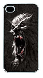 IPhone 4S Cases Werewolf Battlecry Polycarbonate Hard Case Back Cover for iPhone 4/4S White