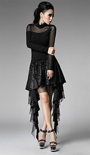 Verano Mujer Falda Punk G¨®tica con dise?o asim¨¦trico y Broken-agujero falda corta Underskirt corto