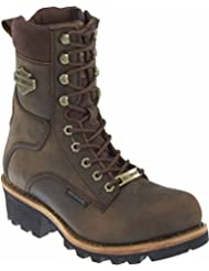 Wolverine Harley-Davidson Mens Tyson Logger Brown Leather Motorcycle Riding Boots