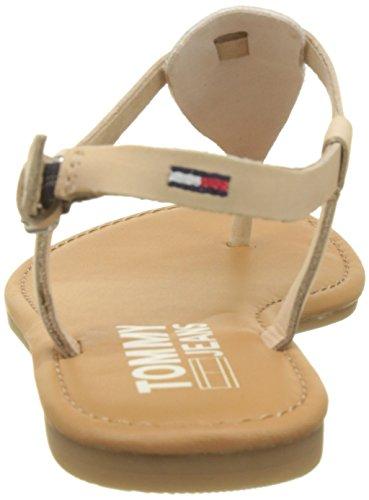Sandal con Mujer Tommy Metallic Jeans Rose 638 Tira Vertical Thong Gold Sandalias para Flat Rosa YxIUwaq