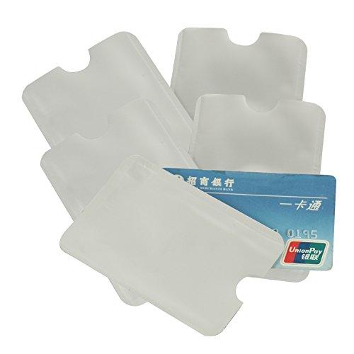2-TECH Hochwertige RFID-Schutzhülle, 5er-Pack Datenschutzhülle für kontaktlose Kreditkarten, EC-Karten, Ausweise, Karten (RFID, NFC, Funk)