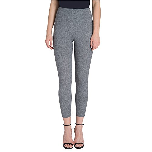 Lysse Women's Mindy Zip Crop (Grey Tweed,L)