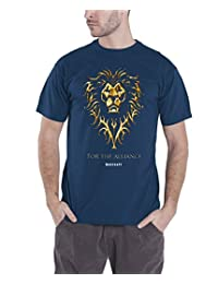 World Of Warcraft T Shirt Official For the Alliance new Mens Navy Blue