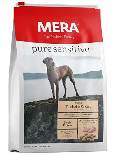 MERA Pure Sensitive Adult Truthahn und Reis Hundefutter – Trockenfutter für die tägliche Ernährung nahrungssensibler…